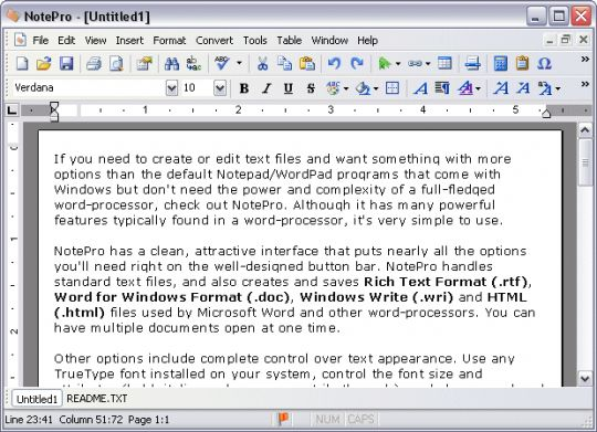 NotePro Screenshot