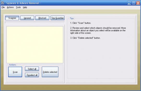 Spyware & Adware Removal Screenshot