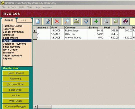 Golden Inventory System Screenshot