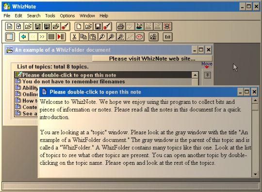 AvniTech WhizNote Screenshot