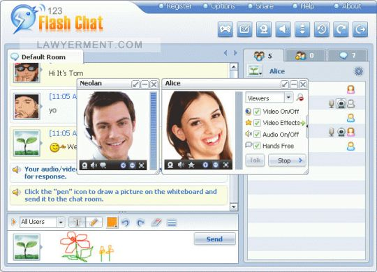 123 Flash Chat Server Software Screenshot