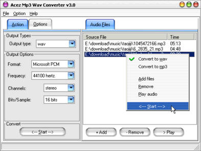 Acez MP3 WAV Converter Screenshot