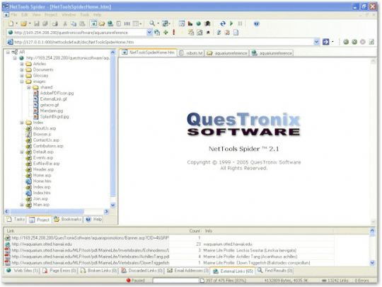 NetTools Spider Screenshot