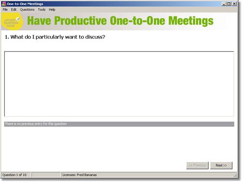 One-to-One Meetings Screenshot