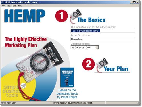 Highly Effective Marketing Plan (HEMP) Screenshot