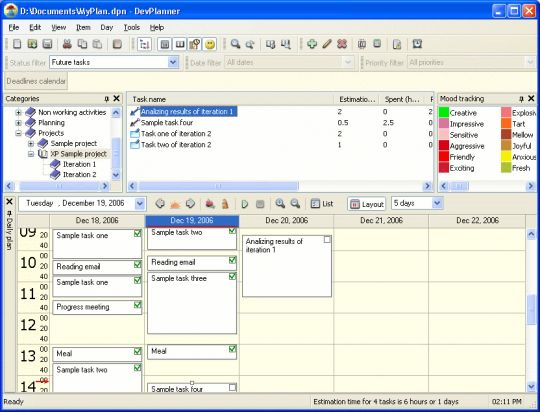 DevPlanner Screenshot