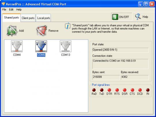 Advanced Virtual COM Port Screenshot