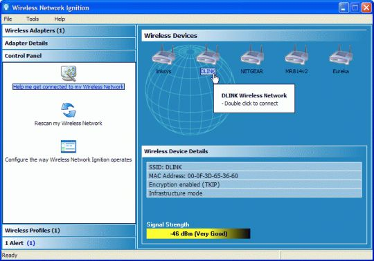 Wireless Network Ignition Screenshot