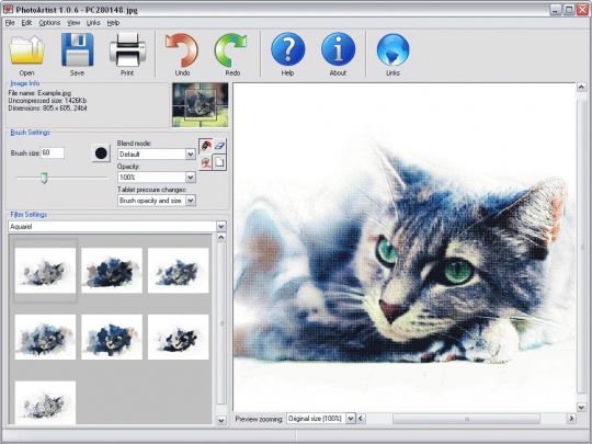 PhotoArtist Screenshot
