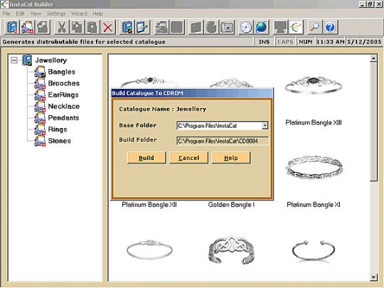 CD Catalog & Website Builder Screenshot