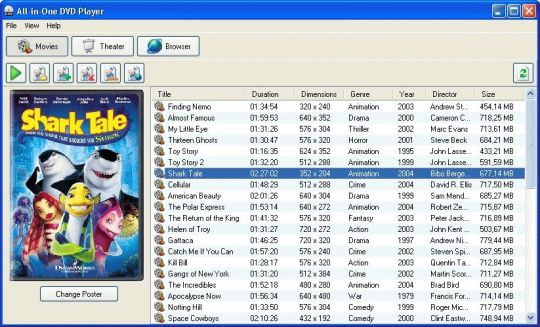 All-in-One DVD Player Screenshot