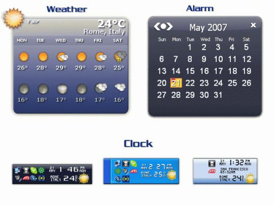 Weather Clock Screenshot