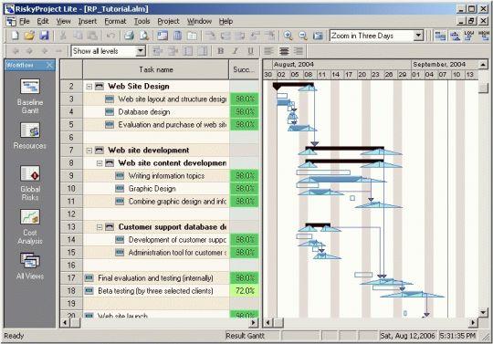 RiskyProject Lite Screenshot