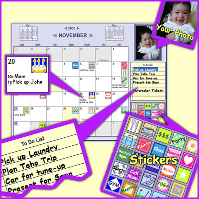 Monkeymen Calendar Screenshot