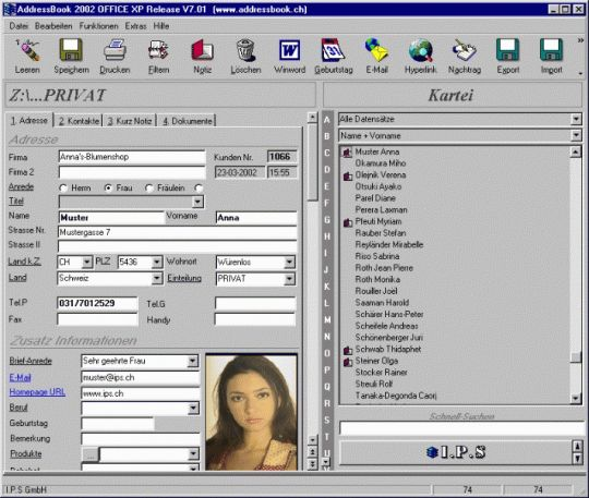 AddressBook Screenshot