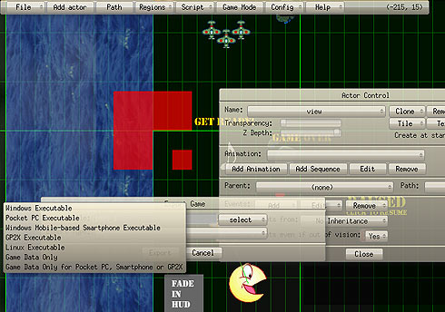 Game Editor Screenshot