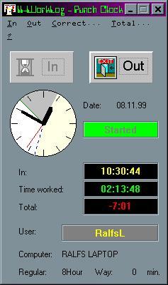 II_WorkLog Screenshot