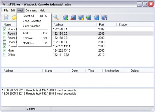 WinLock Remote Administrator Screenshot