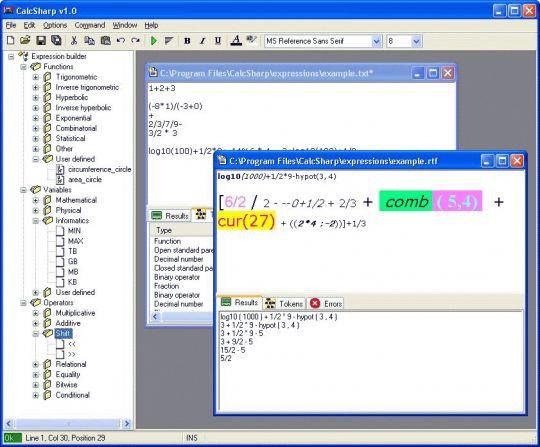 CalcSharp Screenshot