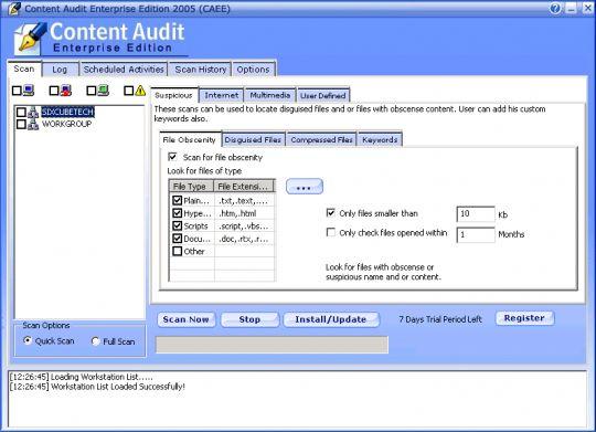 Max Secure Content Audit Enterprise Screenshot