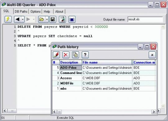 Multi-DB Querier Screenshot