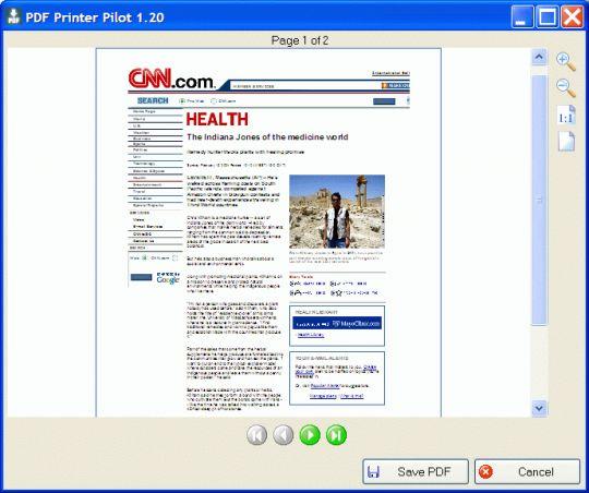 PDF Printer Pilot Screenshot