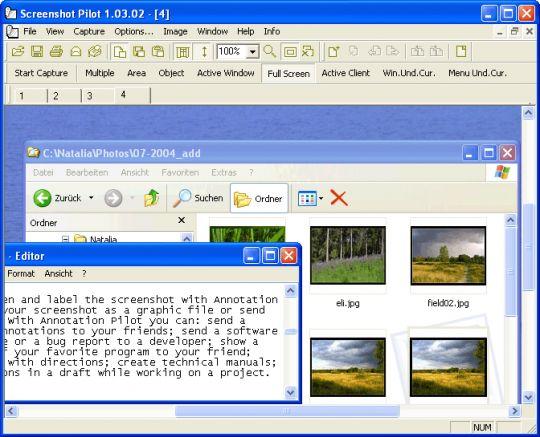 Screenshot Pilot Screenshot