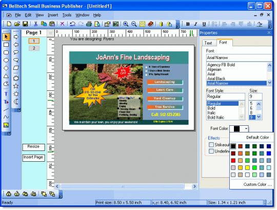 Belltech Small Business Publisher Screenshot