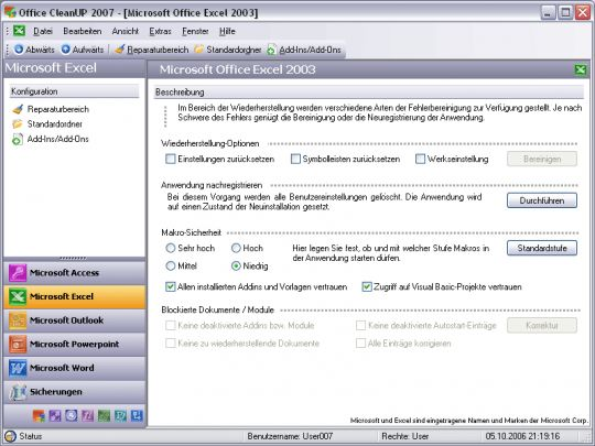 Office CleanUP 2006 Screenshot