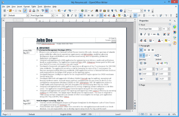 Apache OpenOffice Screenshot