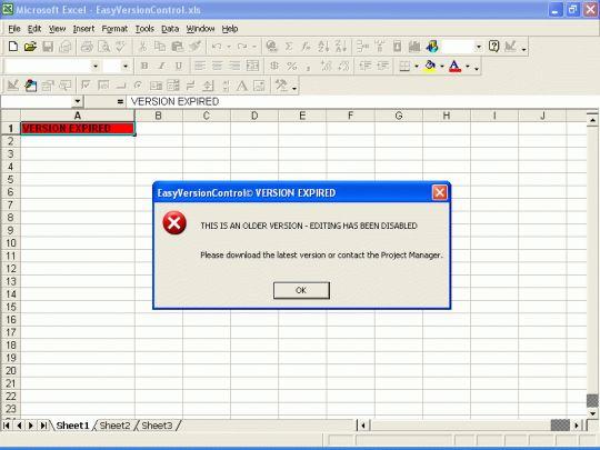 EasyVersionControl (Excel Version Control) Screenshot