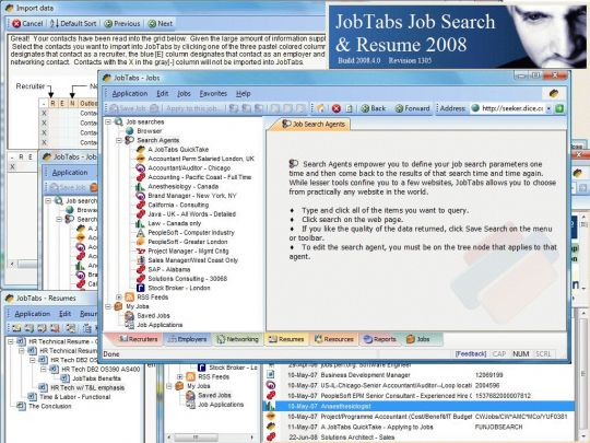 JobTabs 2005 Screenshot