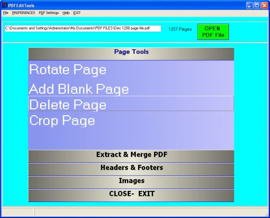 PDF Edit Tools Screenshot