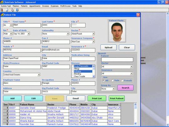 ClinicGate Advanced Screenshot
