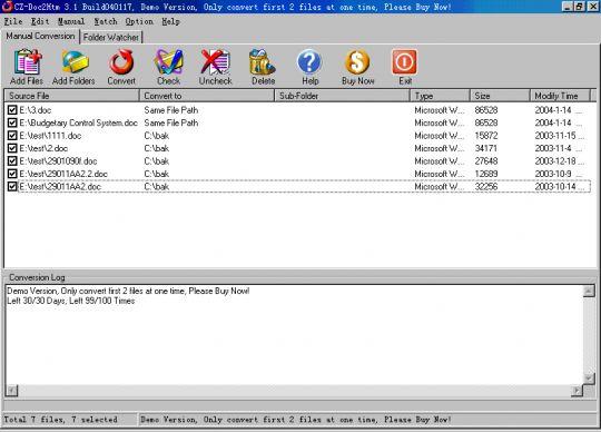 CZ-Doc2htm Screenshot