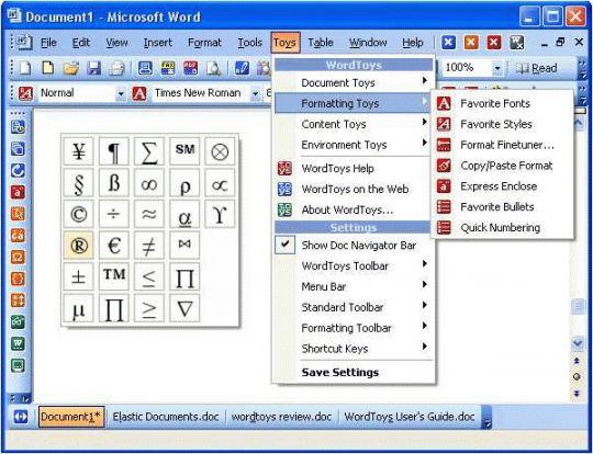 WordToys Screenshot