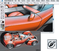 Corel Painter (Macintosh) Screenshot