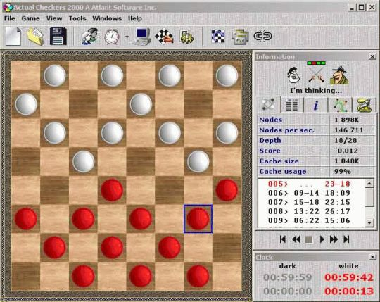 Actual Checkers 2000 A Screenshot
