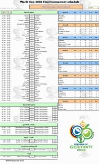 World Cup 2006 Tournament Calendar Screenshot