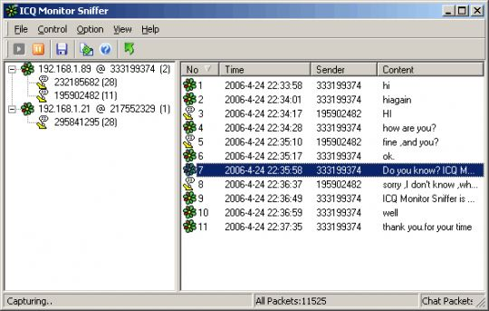 ICQ Monitor Sniffer 3 0