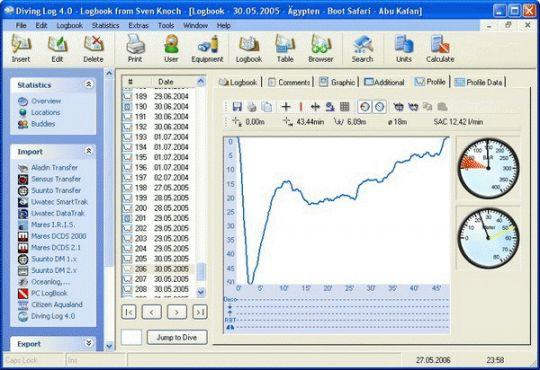 Diving Log Screenshot