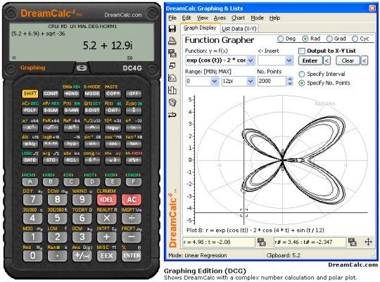 DreamCalc Graphing Calculator Screenshot