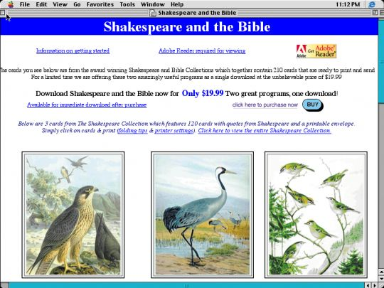 Shakespeare and the Bible Screenshot