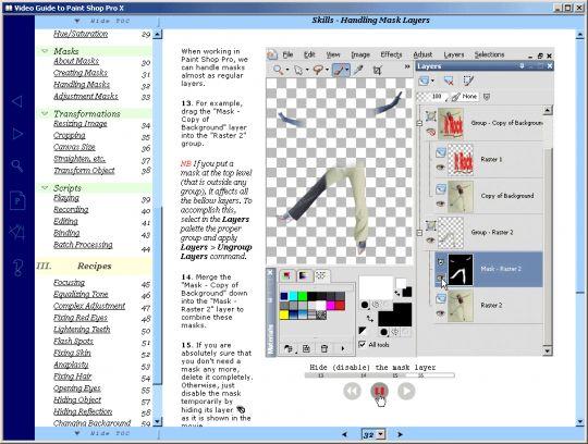Video Guide to Paint Shop Pro X Screenshot