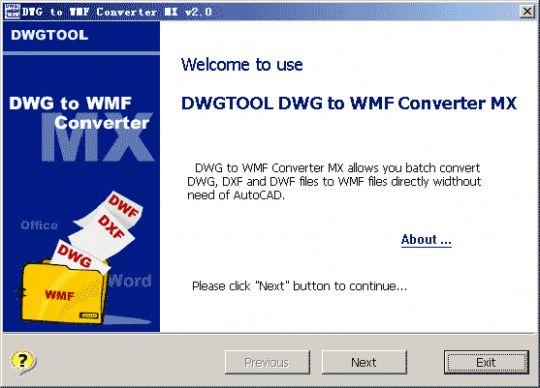 DWG to WMF Converter MX Screenshot