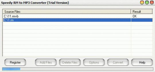 Speedy RM to MP3 Converter Screenshot