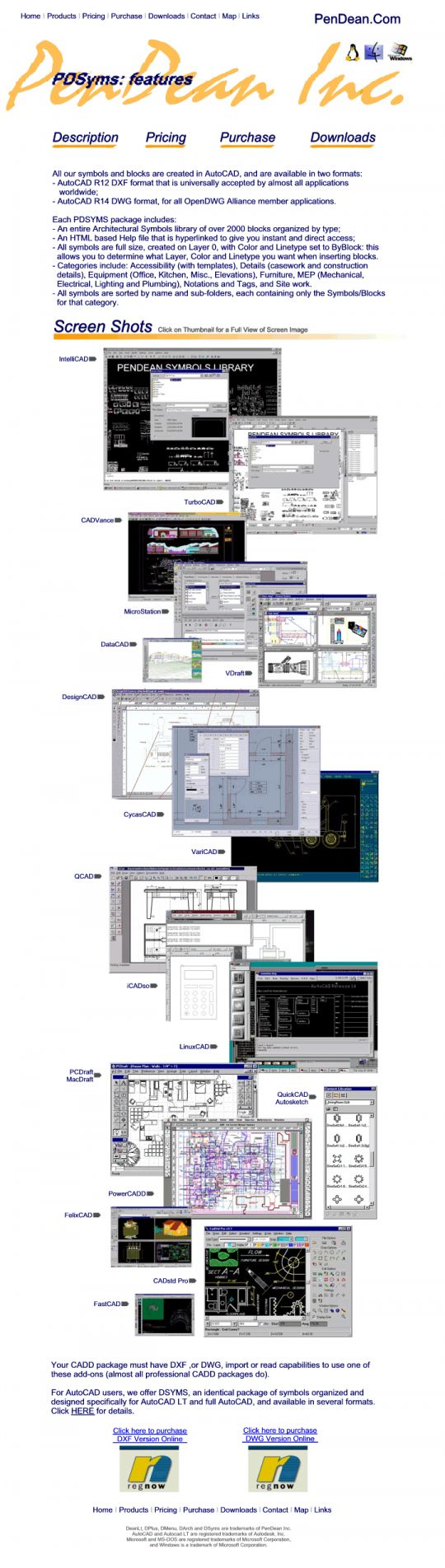 PDSYMS DWG Symbols Library Screenshot