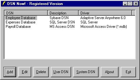 DSN Now! Screenshot