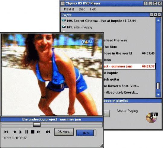 Cliprex DS DVD Player Screenshot