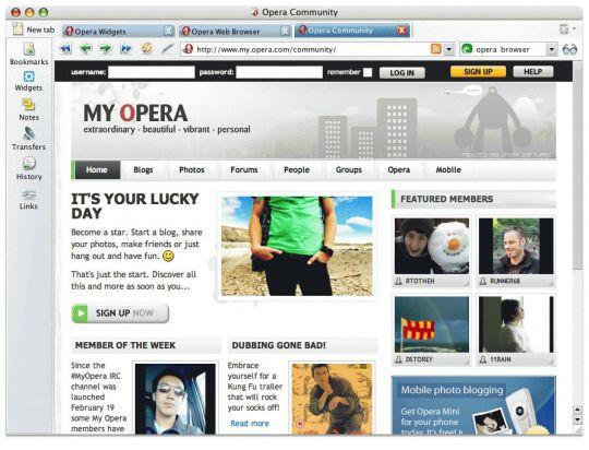 Opera (Mac) Screenshot